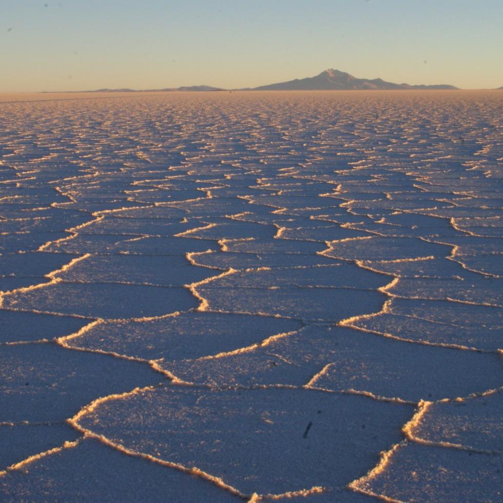 Sunrise on the salt flats, Bolivia